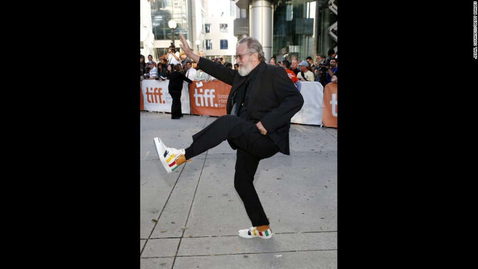 "Director Jeremiah S. Chechik gets his kicks at the premiere of his movie ""The Right Kind of Wrong"" on September 12."