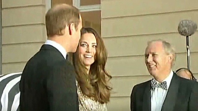 Royal couple's 1st appearance since baby