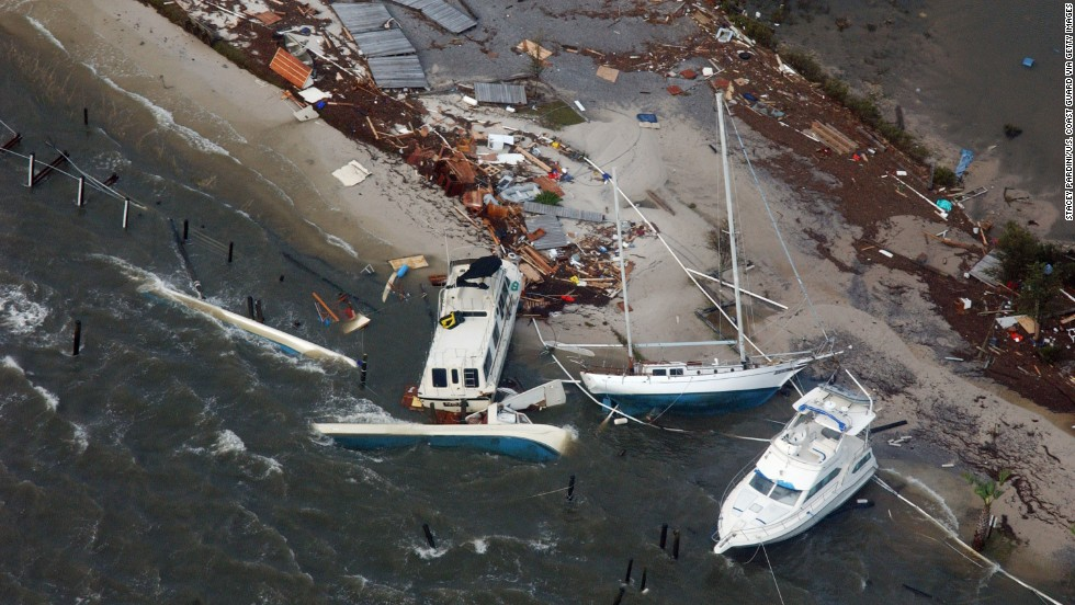 On September 16, 2004, Hurricane Ivan's maximum sustained winds of 120 mph crashed into Alabama, just west of Gulf Shores, with damage spreading across the region to Milton, Florida, seen here. When it was all said and done, Ivan was blamed for 92 deaths across the United States, Grenada, Jamaica, Dominican Republic, Venezuela, Cayman Islands, Tobago and Barbados. U.S. damage was estimated at $14.2 billion, the third largest total on record.