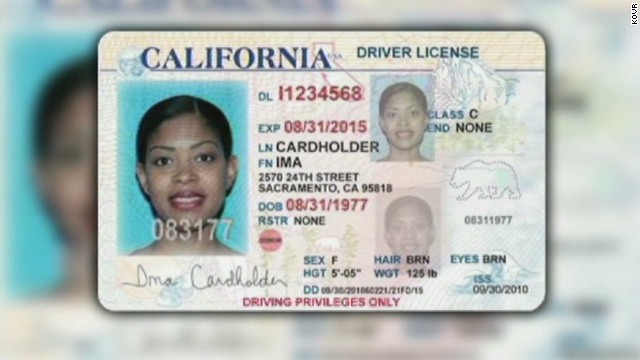 An artist rendition of what the driver's license could look like for California's undocumented immigrants.