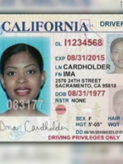 California Id Template Download. examination employment application ...