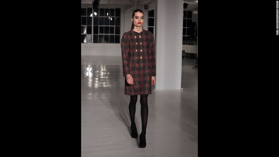 Negris Lebrum's fall 2012 show during New York Fashion Week in February 2012.