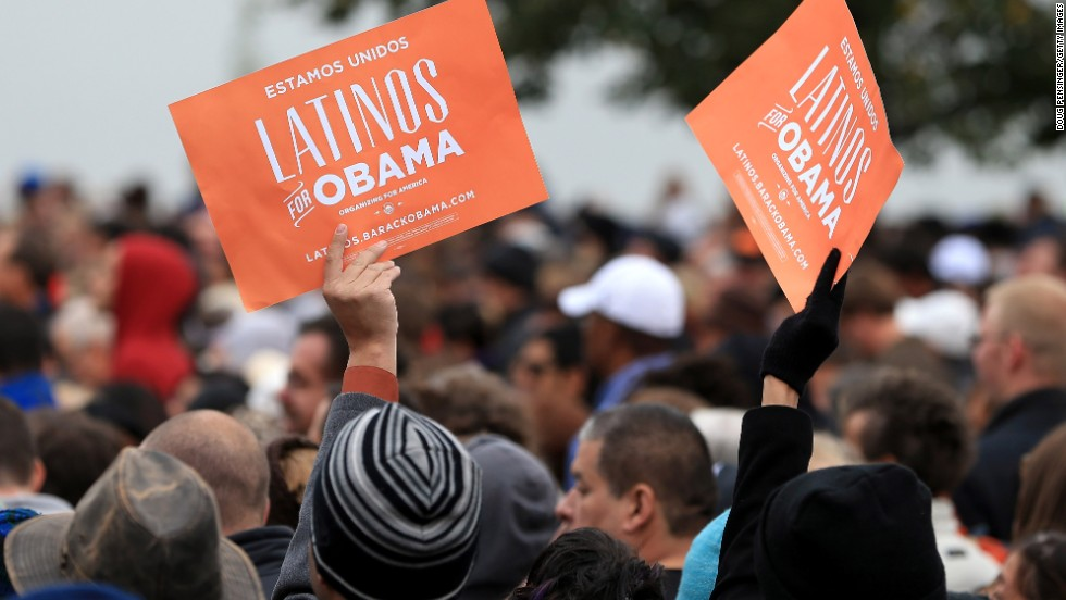 "<strong>November 2012:</strong> The <a href=""http://www.cnn.com/2012/11/09/politics/latino-vote-key-election"">Latino vote was key this election year</a>, and Hispanics voted in record numbers, making up 10% of the electorate.<br /><br />""It's something we saw coming and have seen happen for a numbers of years now. Hispanics are increasing their share of their electorate,"" said Mark Hugo Lopez, associate director of the Pew Hispanic Center.<br /><br />And, in another first, <a href=""http://inamerica.blogs.cnn.com/2012/11/14/in-a-first-more-florida-cuban-americans-vote-democrat/"">Cuban-Americans in Florida voted for a Democratic candidate</a> over a Republican, 49% to 47%. Cuban-Americans in Florida have reliably voted Republican and have been a factor in some presidential outcomes in the coveted swing state."