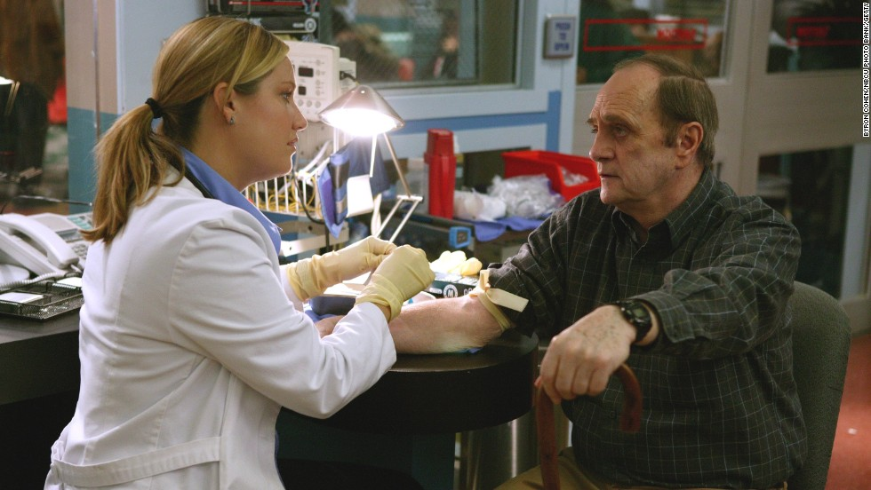 "Newhart guest stars as Ben Hollander, alongside actress Sherry Springfield as Dr. Susan Lewis, in the TV drama ""ER"" in 2003."