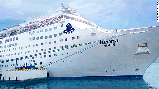 The Henna has been called China's first luxury cruise liner, but its passengers were subjected to a rude wait over the weekend.