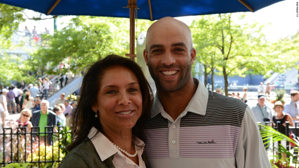 U.S. tennis star James Blake drew his inspiration from Ashe and met his widow Jeanne at the 2013 U.S. Open at Flushing Meadows.