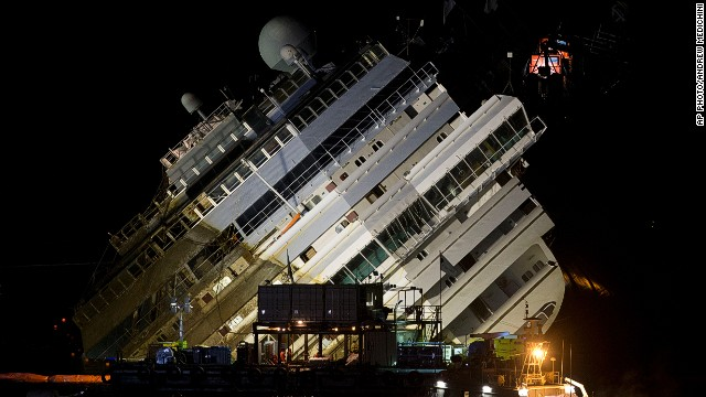 Timelapse shows raised Costa Concordia
