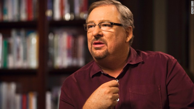 Pastor Rick Warren is interviewed by CNN's Piers Morgan in Rancho Santa Margarita, California, on September 16.