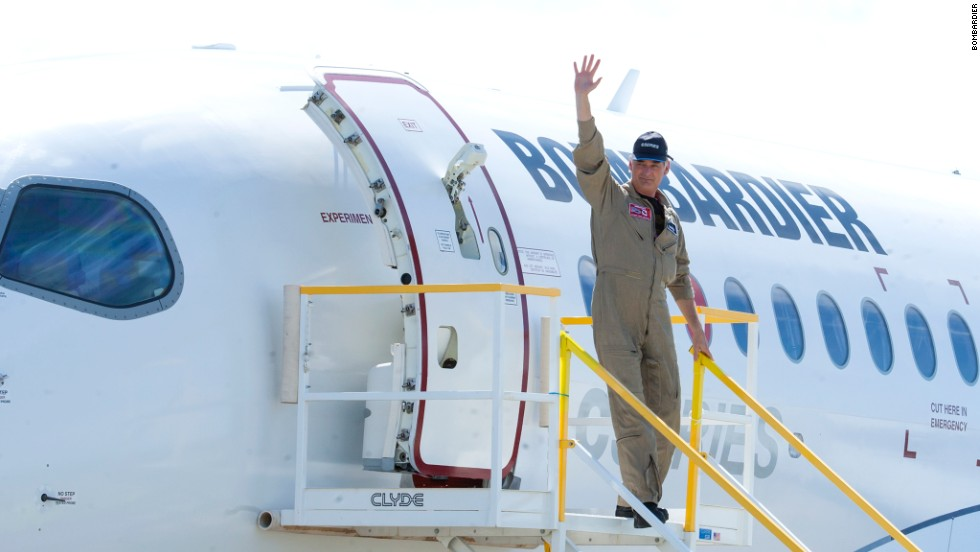 """""""We couldn't have wished for a better maiden flight,"""" said the new jet's test pilot -- perhaps with a sigh of relief -- after touching down."""