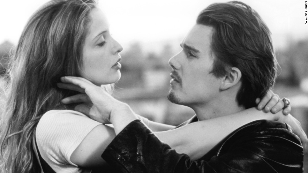"In ""Before Sunrise,""Julie Delpy and Ethan Hawke star as Celine, a French woman, and Jesse, an American man, who meet on a train in Europe and become close despite believing they'll never see each other again. Their relationship became the basis for the 2009 film ""Before Sunset"" and 2013's ""Before Midnight."""