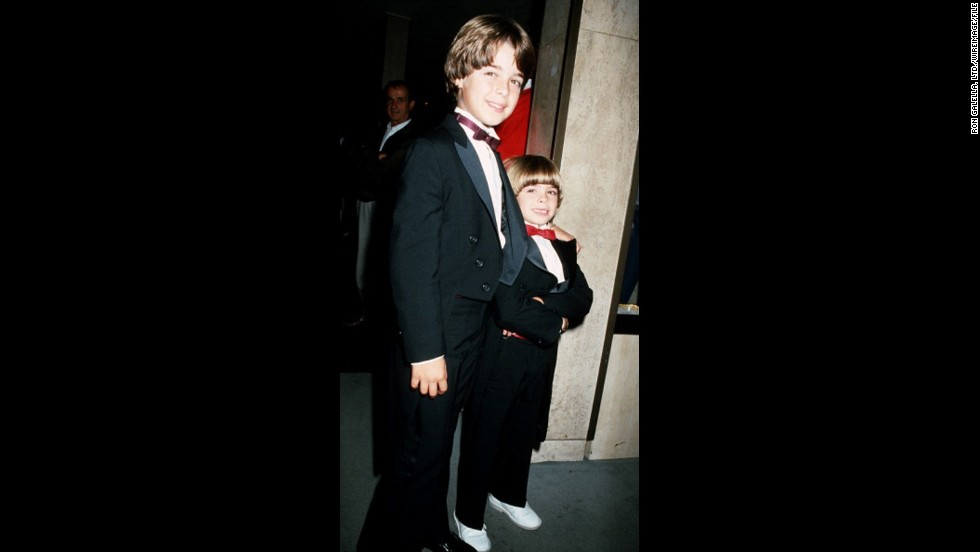 A young Joey Lawrence attended the 1986 Emmys with his younger brother, Matthew.