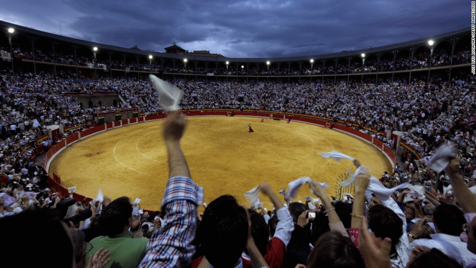 The bull is Spain's iconic animal, and you won't miss seeing at least one -- alive, dead or fake. Bullfights such as this one in Granada still attract enthusiastic crowds.