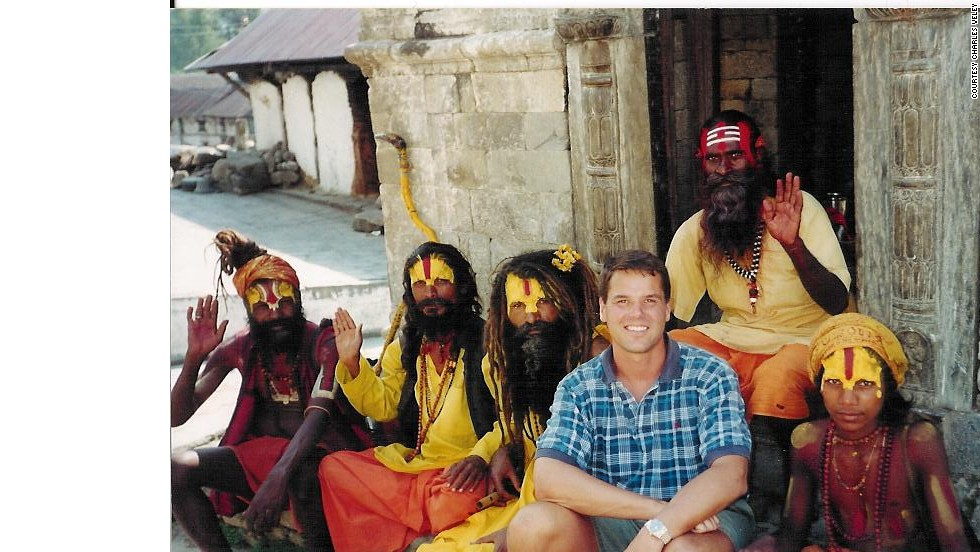 "Charles Veley has traveled to 829 ""countries, territories, autonomous regions, enclaves, geographically separated island groups and major states and provinces,"" by his count. He's one of a small group of people who say quantity matters when it comes to travel. Here, he's in Nepal."