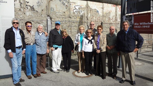 Klaus Billep (far right) at the Berlin Wall. Impressed?