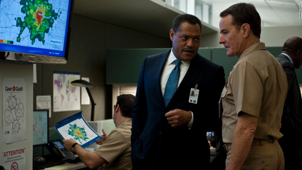 "Cranston is one of many stars -- including Laurence Fishburne -- in the 2011 film ""Contagion."""