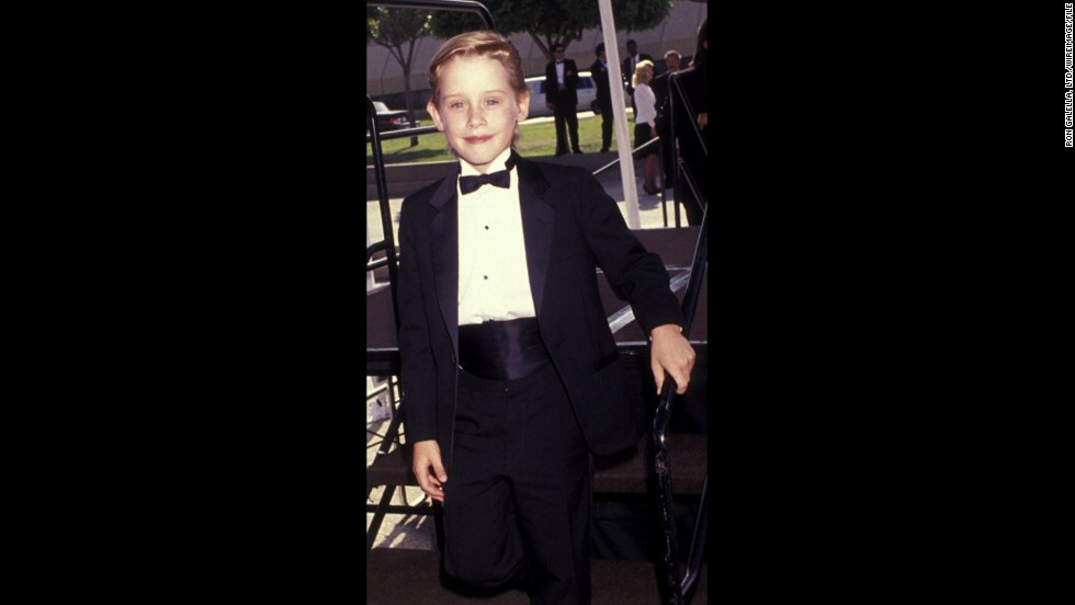 """Home Alone"" star Macaulay Culkin put on his kid-sized best for the 1991 Emmys."