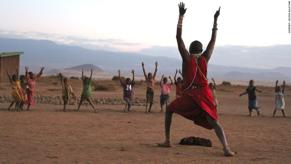 """Yoga will be part of Maasai tradition because the young need to be strong warriors,"" says Jacob Parit, Maasai warrior and yoga instructor."