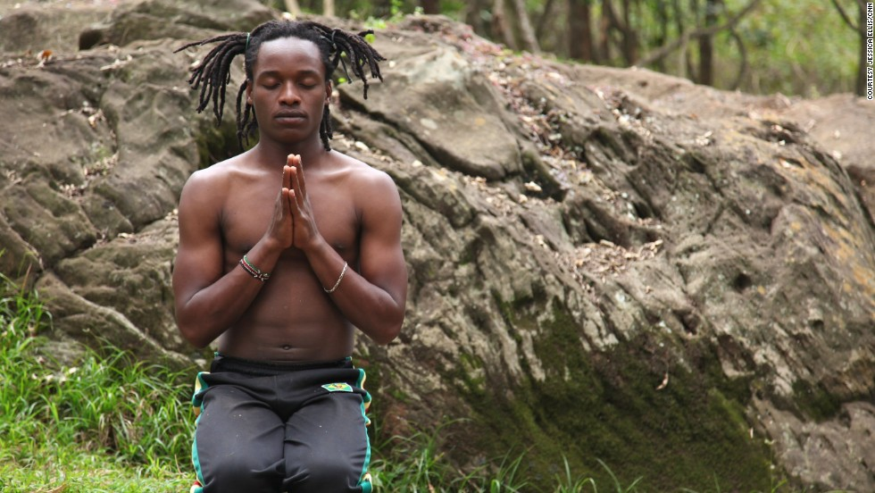 """I feel like I have a job that has given me a purpose for life,"" says Walter Mugwe, instructor with the Africa Yoga Project. ""A job that gives me a definition of who I should be in the world, a service for others, uplifting for others."""