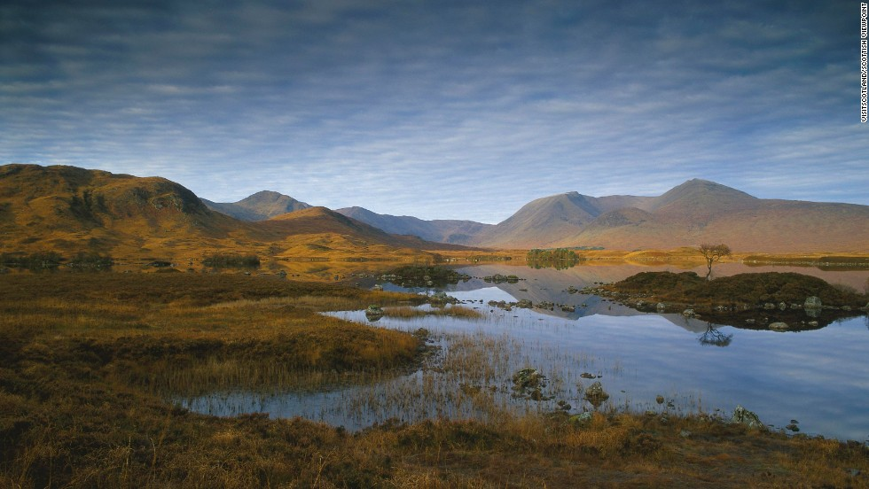 Few places in the world -- let alone in Scotland -- feel as wild as Rannoch Moor. Often the only sound is the eerie cry of the curlew, a wading bird.