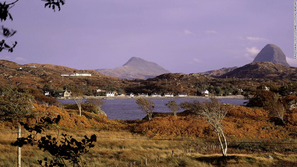 In the middle distance, Mt. Suilven. Yes, Ben Nevis is higher but this is one tough little bugger.