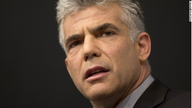 Israeli actor, journalist and author Yair Lapid, who heads the new Yesh Atid political party, delivers a campaign speech at the Ariel University Centre in the West Bank Jewish settlement of Ariel on October 30, 2012