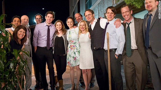 "The cast of NBC's ""The Office"" in the show's finale."