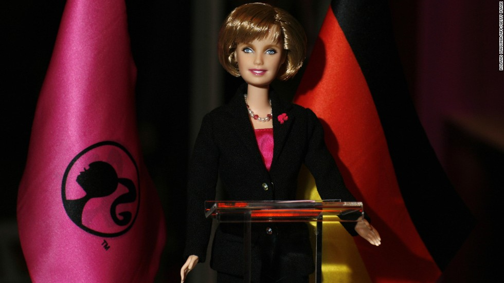 The 'Angela Merkel Barbie' was presented in March 2009 to mark Barbie's 50th birthday.