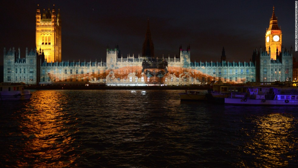 London 2012 took a big step forward in terms of promotional innovation, such as this projection of swimming legend Michael Phelps on the Houses of Parliament at Westminster.