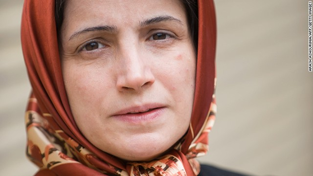 Iranian lawyer Nasrin Sotoudeh is seen in Tehran on November 1, 2008.