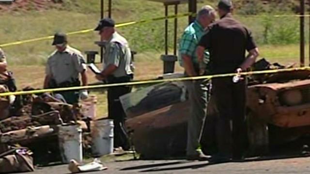 Sunken cars held human remains