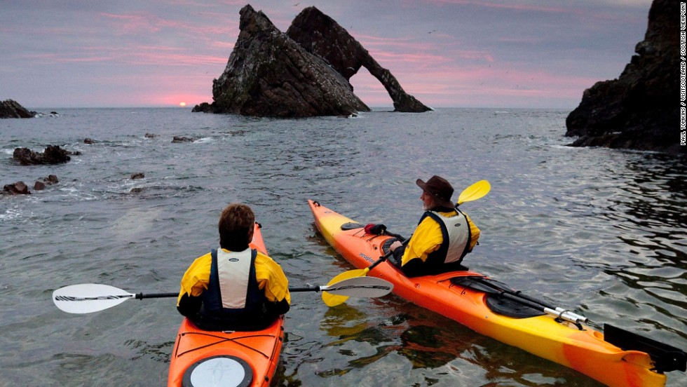 The Sea Kayak Trail takes in 500 kilometers of often almost mythically beautiful Scottish coastline.