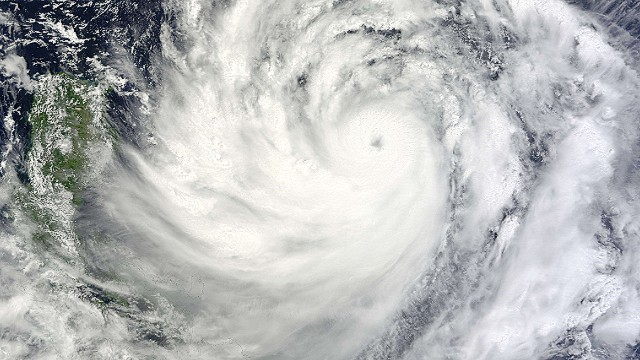 "This NASA Terra satellite image obtained September 19, 2013 shows Typhoon Usagi nearing the Philippines and southern Taiwan. Taiwan's Central Weather Bureau said September 19, that Typhoon Usagi was about 900 kilometers (560 miles) southeast of Taiwan's southernmost Hengchun peninsula and moving northwest into the Bashi Channel separating Taiwan and the Philippines at 12 kph (8 mph). Packing winds of 173 kph (108 mph) and gusts of 209 kph (131 mph), Usagi is strengthening into one of the biggest storms of the season, with the eye expected to pass south of Taiwan. AFP PHOTO / NASA == RESTRICTED TO EDITORIAL USE / MANDATORY CREDIT: ""AFP PHOTO / NASA / NO MARKETING / NO ADVERTISING CAMPAIGNS / DISTRIBUTED AS A SERVICE TO CLIENTS ==HO/AFP/Getty Images"