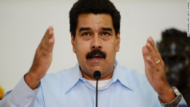 Venezuelan President Nicolas Maduro talks during a press conference at the Miraflores Presidential Palace in Caracas on September 09, 2013. Venezuela on Tuesday will leave the Inter American Human Rights Court. AFP PHOTO/ Leo RAMIREZ. (Photo credit should read LEO RAMIREZ/AFP/Getty Images)