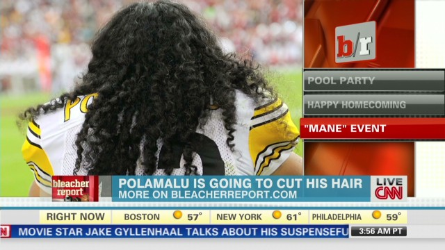Troy Polamalu to cut his famous hair