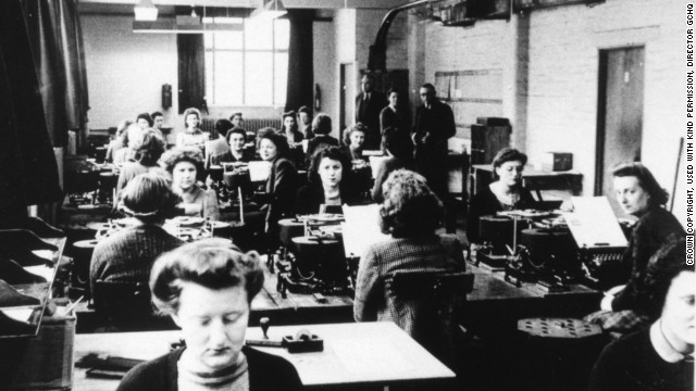 Many women were conscripted into work at Bletchley Park during World War II, where the Enigma code was cracked.