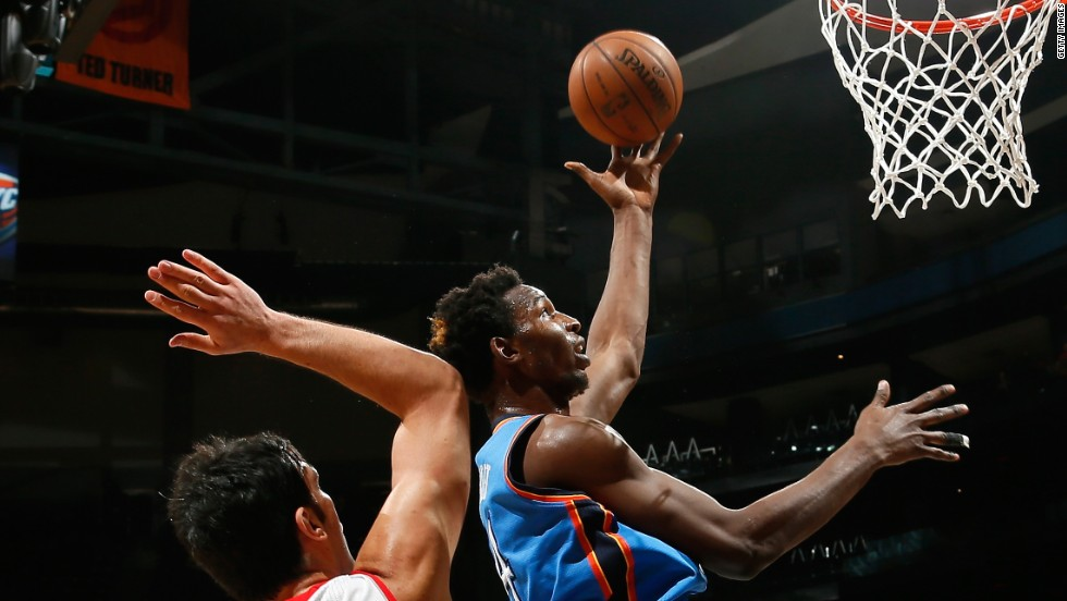 "Tanzanian Hasheem ""The Dream"" Thabeet is a giant, measuring 7ft 3in. His last team was Oklahoma City Thunder before moving to play in the NBA's Development League."