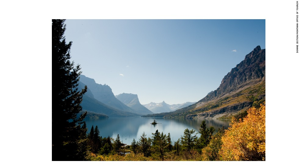 This view of Wild Goose Island in St. Mary Lake, from along the Going-To-The-Sun Road in Glacier National Park, was taken in September 2012.