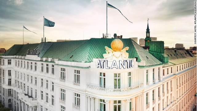 "Bond scrambles over the rooftop of the Atlantic Kempinski in ""Tomorrow Never Dies."""