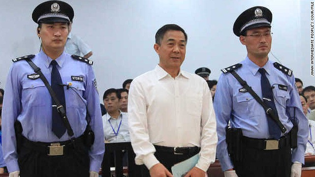 Photo released by Jinan Intermediate People's Court of Bo Xilai awaiting his verdict Sunday.