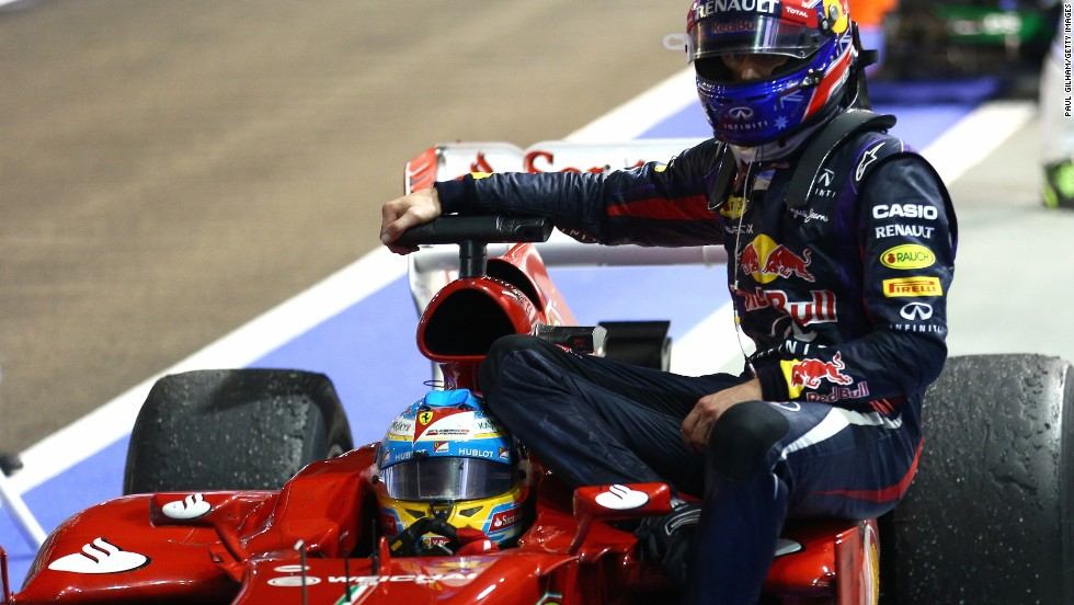 Rosberg finished fourth after Vettel's teammate Mark Webber had to retire at the end due to technical problems. The Australian was given a ride back to the pits by Ferrari's second-placed Fernando Alonso.