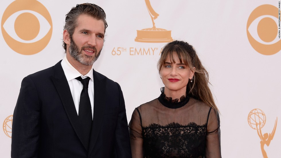 """Game of Thrones"" executive producer David Benioff and his wife, actress Amanda Peet"