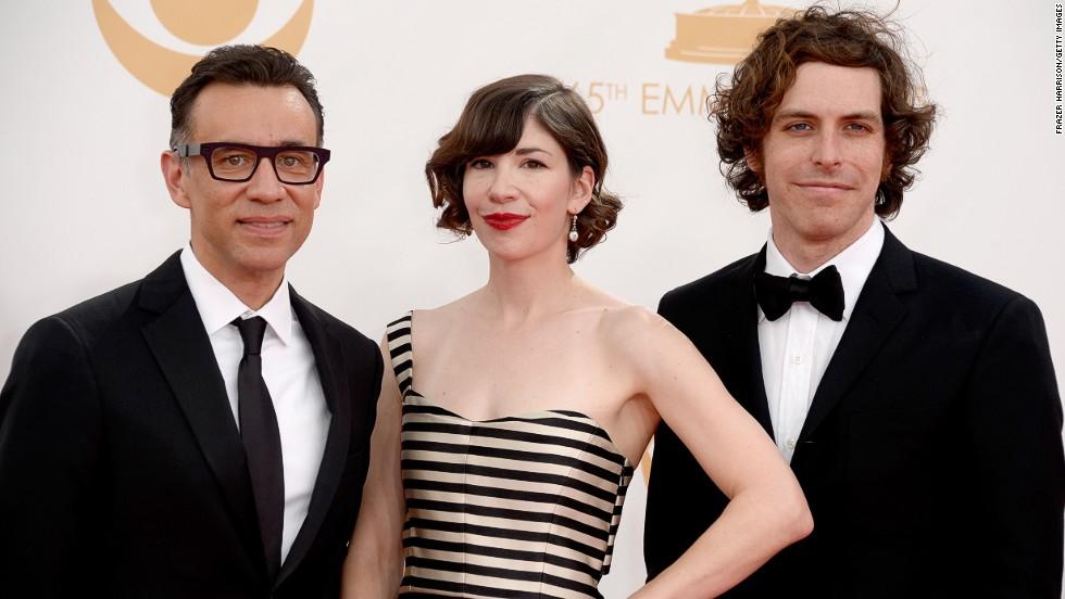"""Portlandia"" stars Fred Armisen, left, and Carrie Brownstein and director-writer Jonathan Krisel"