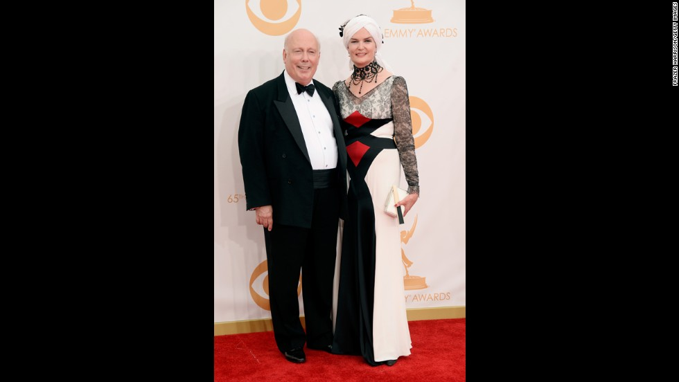 """Downton Abbey"" writer Julian Fellowes and his wife, Emma"