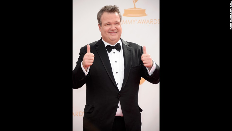"""Modern Family"" star Eric Stonestreet likely gave a thumbs up after the ceremony. His series once again won the best comedy Emmy."