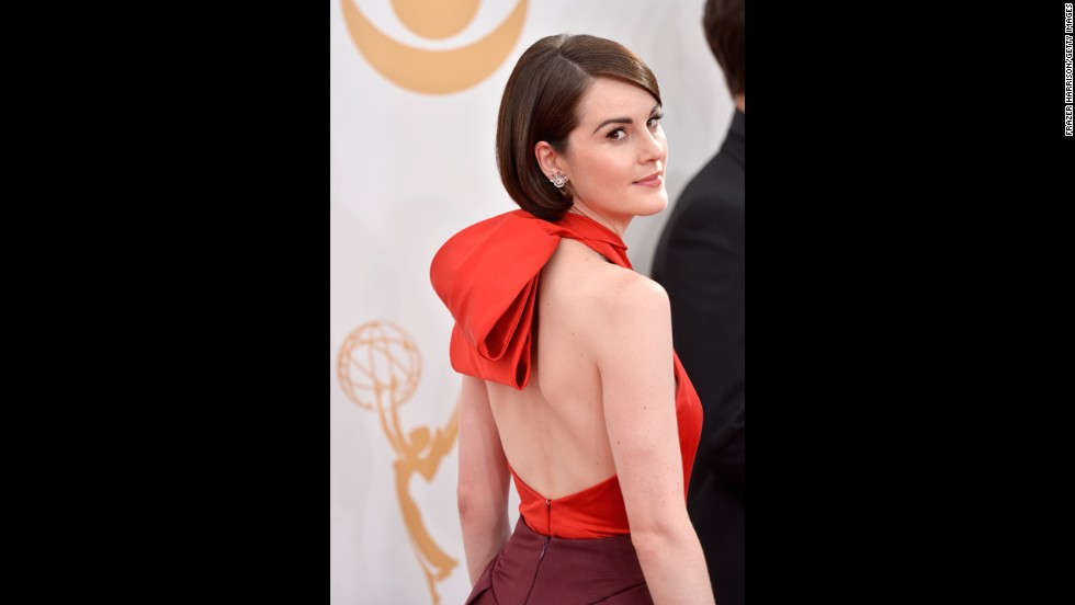 """Downton Abbey"" star Michelle Dockery was nominated for outstanding lead actress in a drama. The Emmy went to ""Homeland's"" Claire Danes."
