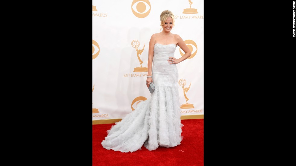 """Malin Akerman of """"Trophy Wife"""" was one of the night's presenters."""