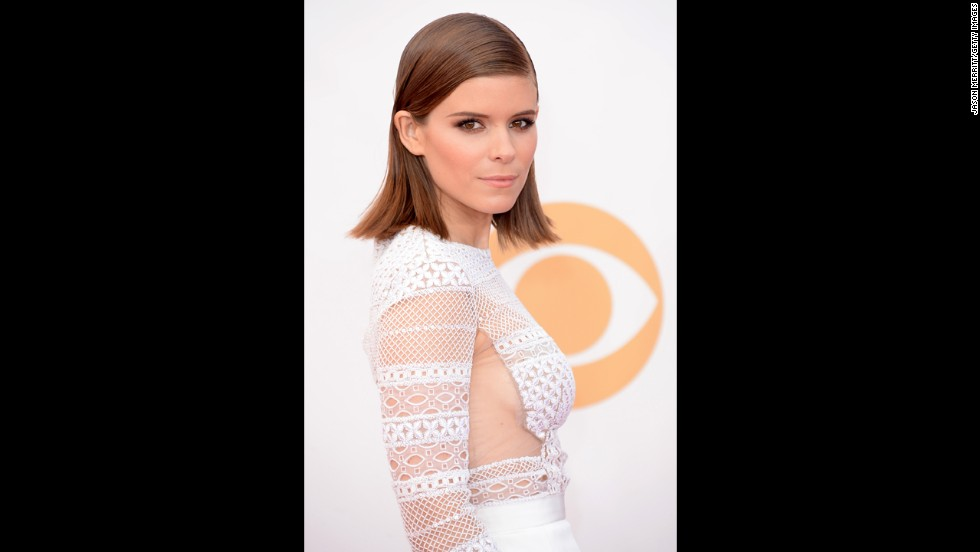 """House of Cards"" star Kate Mara makes a striking figure in a dress with sheer paneling."