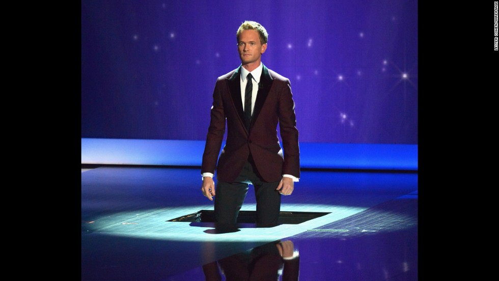 Host Neil Patrick Harris appears onstage during the Emmys.