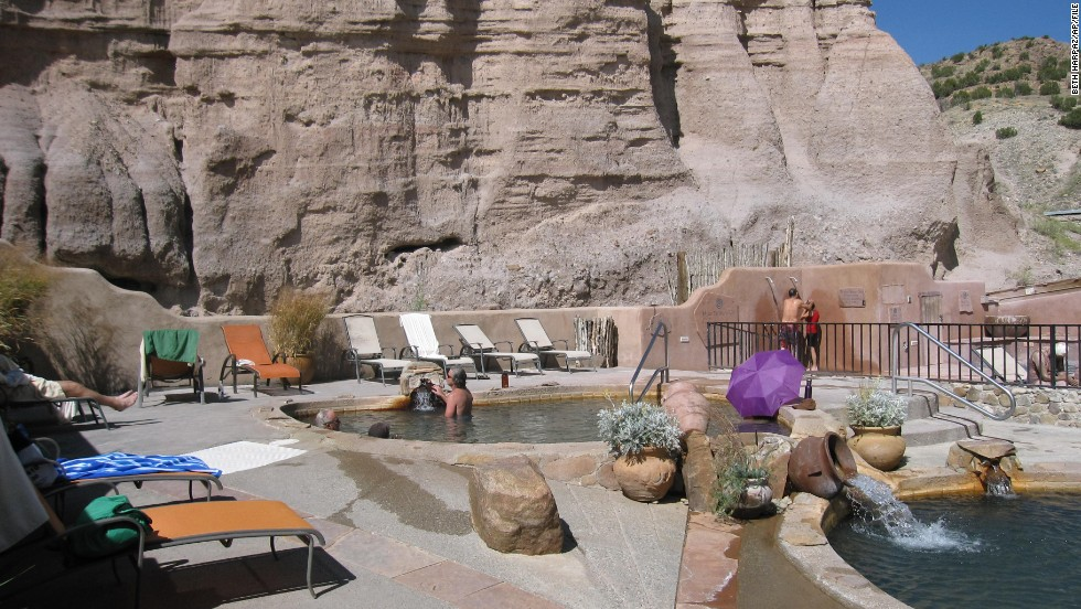 Ancestors of the native Tewa tribes, 16th-century Spanish colonizers, and ailing bodies in search of a miracle cure have all made the pilgrimage to soak in the geothermal water that flows from an ancient volcanic aquifer at Ojo Caliente.