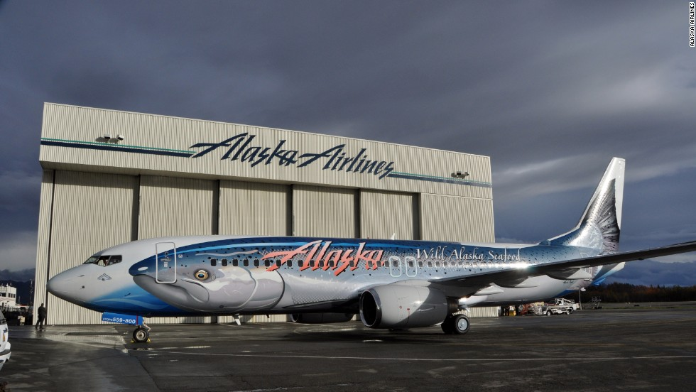 Known officially as the Salmon-Thirty-Salmon (it's a Boeing 737, get it?), the inspiration behind this livery was an incident in 1987 when an Alaska Airlines plane was hit by a fish as it was taking off in Juneau, Alaska. It's believed the fish was dropped by a passing bald eagle.
